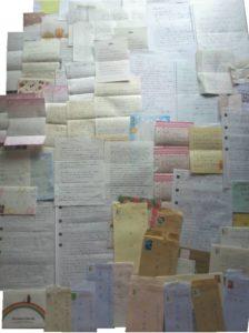 全国から頂いた手紙の数々